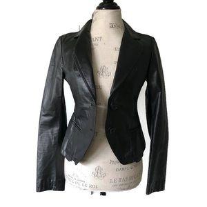 Italian Leather Blazer Patrizia Double Breasted